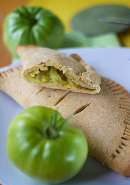 Green Tomato & Onion Turnovers