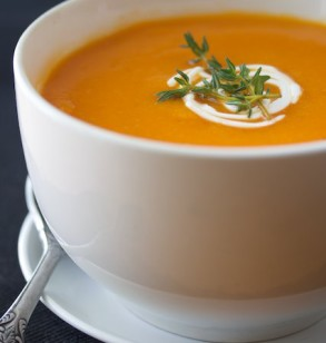 Roasted Red Pepper, Garlic, and Butternut Squash Soup