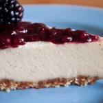 Pretty Darn Raw Vegan Cheesecake with Blackberry Topping