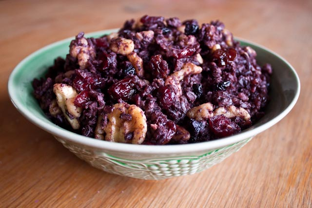 black rice stuffing
