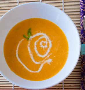 Green Curry Butternut Squash Bisque