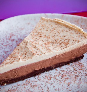 Chocolate Cashew Ice Cream Pie