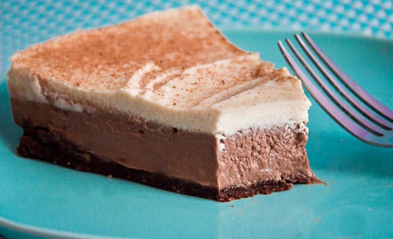 triple layered frozen pie