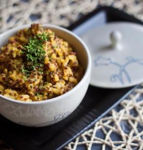 """Microwavable"" Quinoa and Basmati Pilaf"