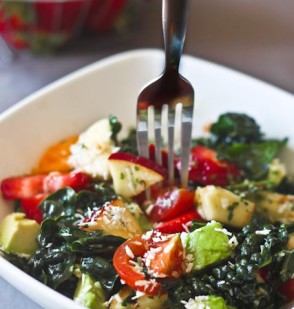 Fruity Kale Salad with Coconut Lime Dressing