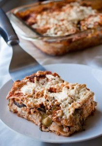 Lasagna with Creamy Red Wine Sauce