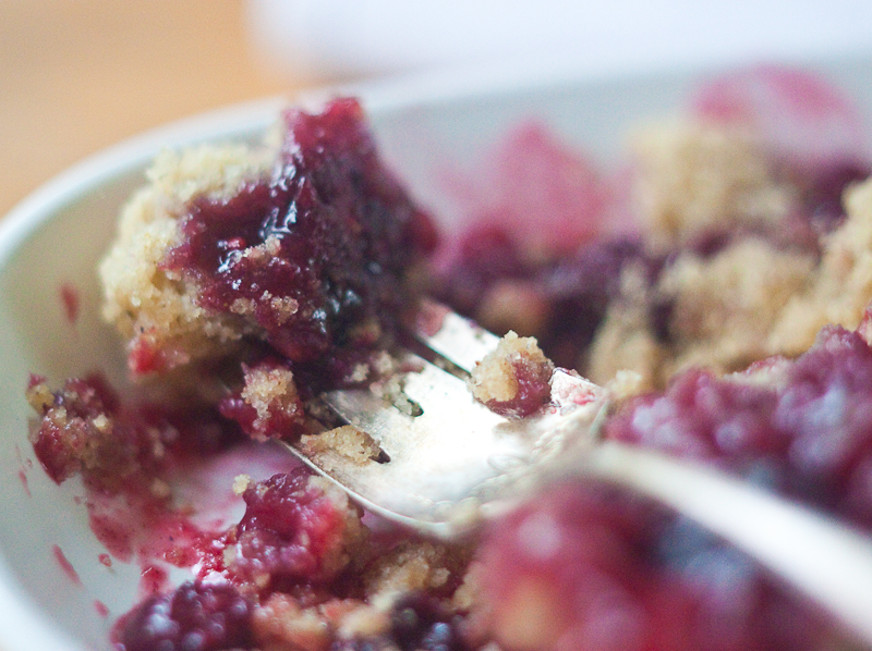 vegan gluten free blackberry cobbler bite 2-1