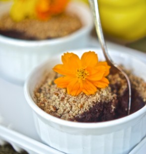Chocolate Acorn Squash Baked Custard