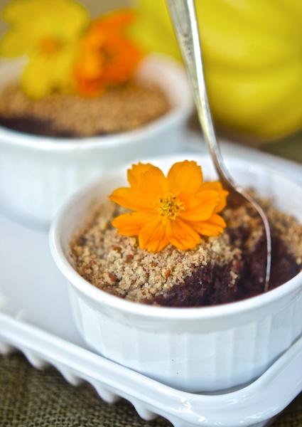 Chocolate Acorn Squash Baked Custard