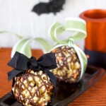 Chocolate Toffee Popcorn Balls