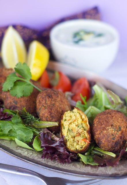 roasted red pepper garlic falafel recipe