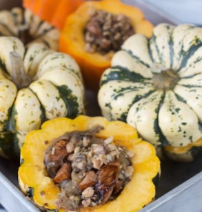 Eggplant Stuffed Winter Squash