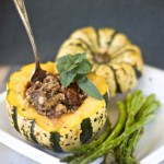 stuffed squash vegan gluten free recipe