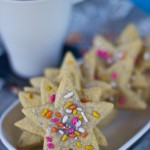 vegan gluten free fennel star cookies