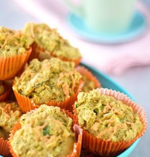 Cheezy Zucchini Muffins