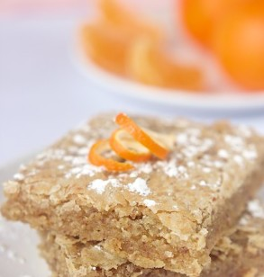 White Chocolate Orange Blondies