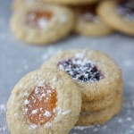 vegan gluten free almond thumbprint cookies