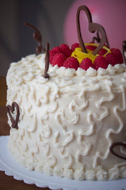 Lemon Raspberry Celebration Cake
