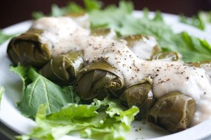 Quinoa Salad Stuffed Grape Leaves