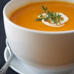 roasted red pepper, garlic and butternut squash soup