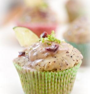 Cherry Lime Kañiwa Muffins