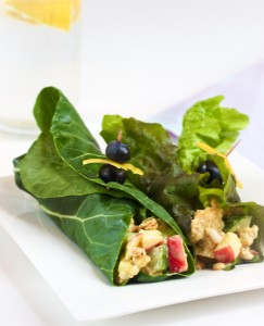 Curried Tempeh Salad Green Wraps