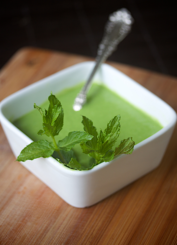minted greenpea bisque