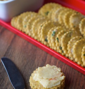 Spicy Cilantro Crackers