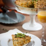 roasted sugar pumpkin & collard crustless quiche