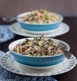 mixed veggie chickpea salad