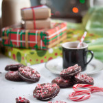 double chocolate candy cane cookies & giveaway!