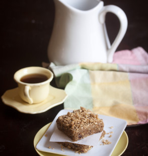 Maple Streusel Coffee Cake Squares from 'Practically Raw Desserts'