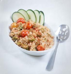 summery okra & quinoa pilaf (oil-free)