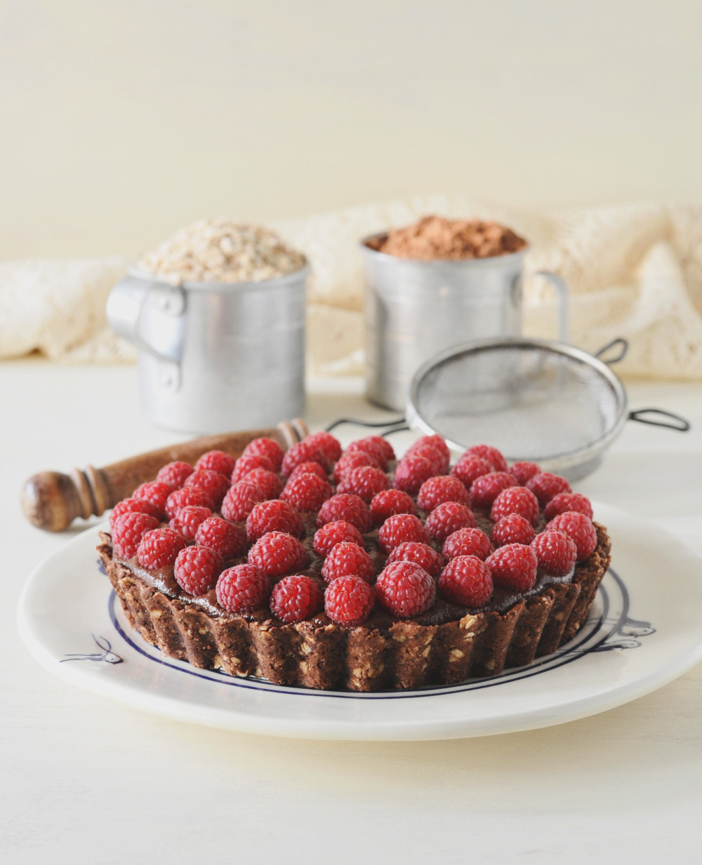 Chocolate Berry Tart from 'Whole Grain Vegan Baking'  Photo by Celine Steen
