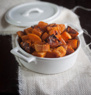 Roasted Maple Glazed Sweet Potatoes
