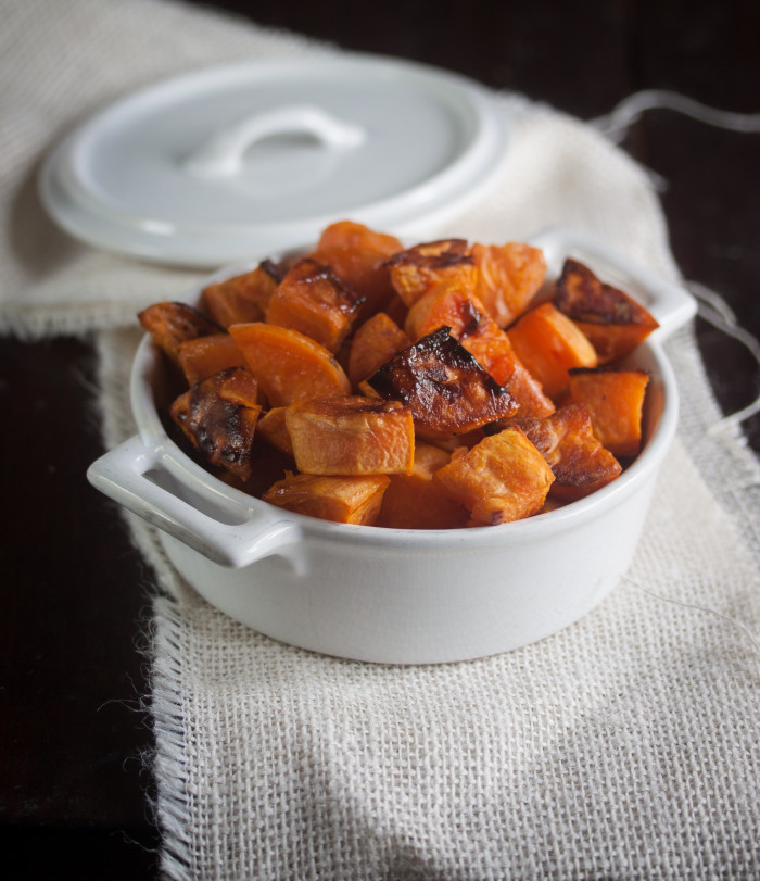maple roasted sweet potatoes Allyson Kramer