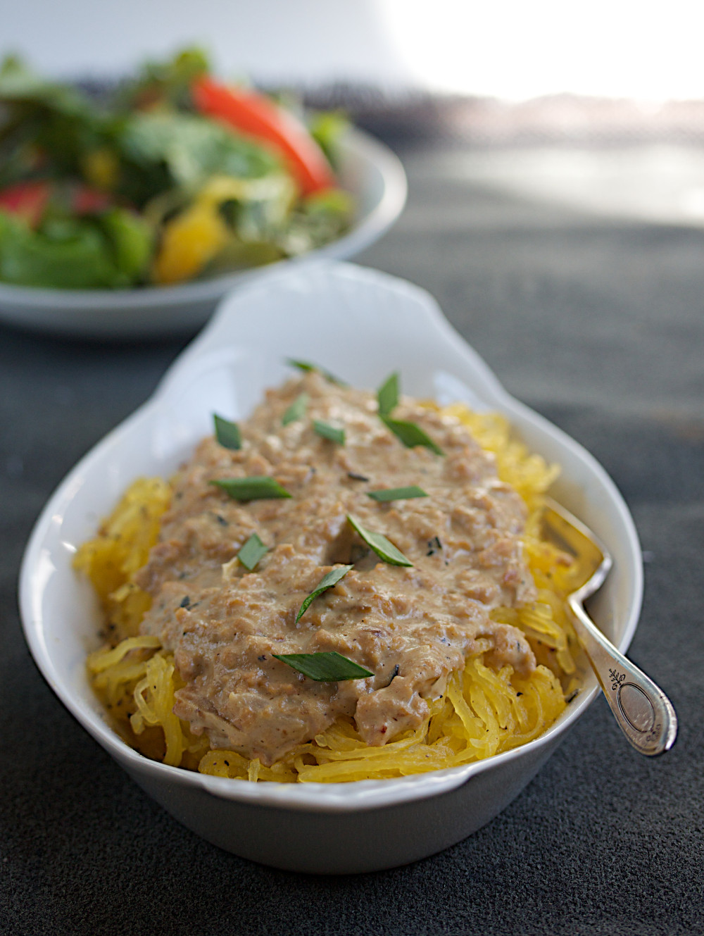 spaghetti squash with rosemary bolognese