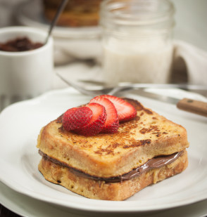 Chocolate Hazelnut Butter Stuffed French Toast