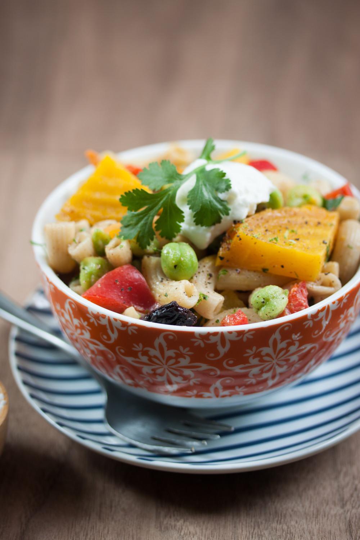 vegan gluten-free green chickpea edamame pasta salad-2