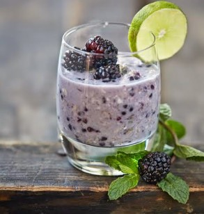 Blackberry Mojito Overnight Refrigerator Oats