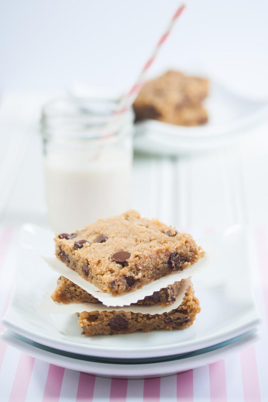 Chocolate Chip Peanut Butter Cookie Bars | Vegan Gluten Free | Allyson ...
