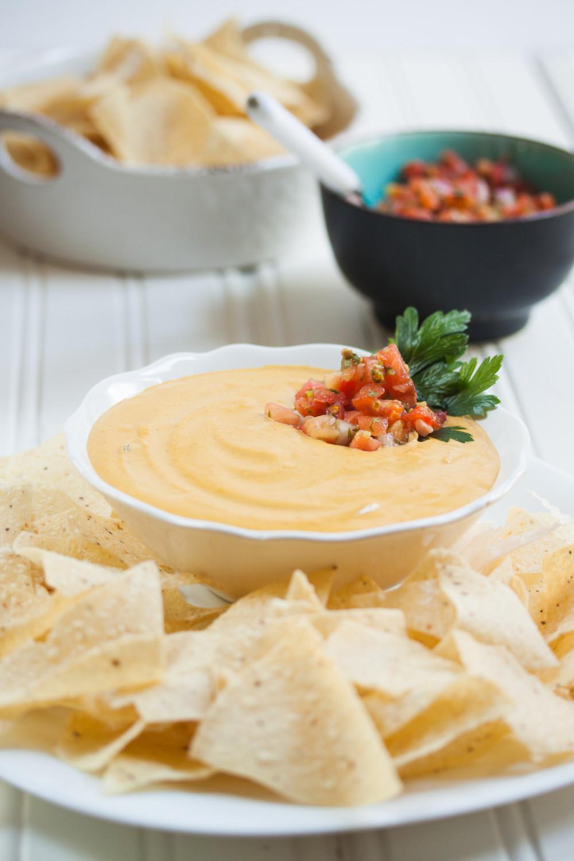 Quick and Easy Queso | Vegan Gluten Free | Allyson Kramer