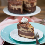 Chocolate Peanut Butter Swirl Cheesecake